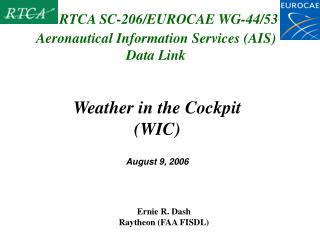 Aeronautical Information Services (AIS) Data Link