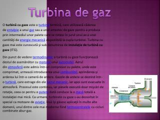Turbina  de  gaz