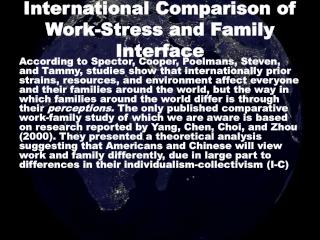 International Comparison of Work-Stress and Family Interface