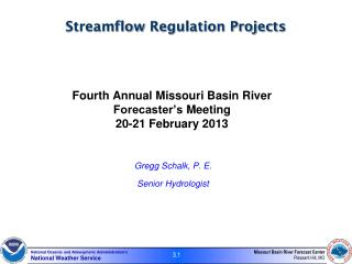 Streamflow  Regulation Projects
