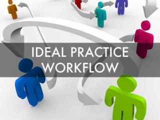 Ideal Practice Workflow- Revenue Maximization and Cost Effic
