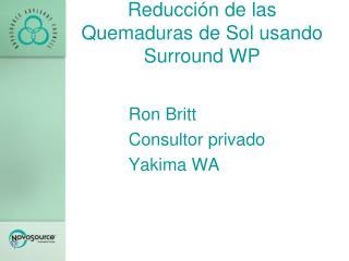 Reducción de las Quemaduras de Sol usando  Surround  WP