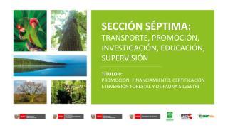 SECCIÓN SÉPTIMA: TRANSPORTE, PROMOCIÓN, INVESTIGACIÓN, EDUCACIÓN, SUPERVISIÓN