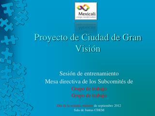 Proyecto de Ciudad de Gran Visi�n