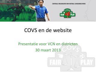 COVS en de website