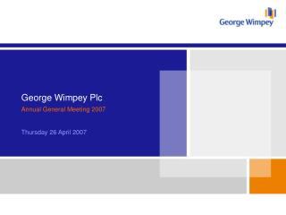 George Wimpey Plc