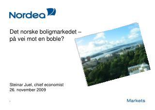 Det norske boligmarkedet –  på vei mot en boble?