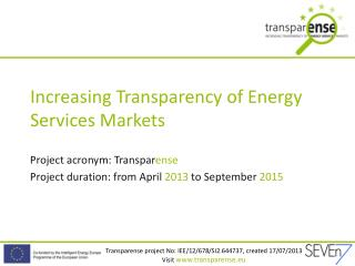 Increasing Transparency of Energy Services Markets