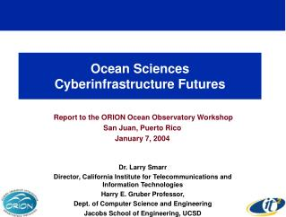 Ocean Sciences Cyberinfrastructure Futures