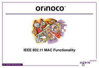 IEEE 802.11 MAC Functionality