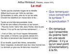Arthur Rimbaud, Po sies, octobre 1870,  Le mal