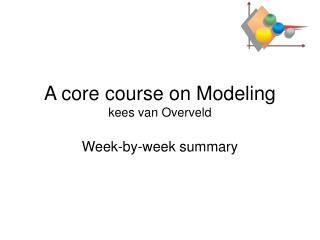 A core course on Modeling kees van Overveld