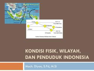 KONDISI FISIK, WILAYAH, DAN PENDUDUK INDONESIA