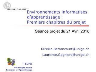 TECFA Technologies pour la Formation et l'Apprentissage