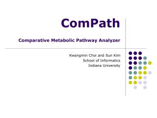 ComPath  Comparative Metabolic Pathway Analyzer