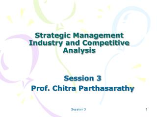 Strategic Management Industry and Competitive Analysis
