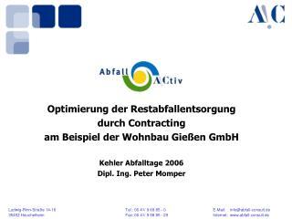 Optimierung der Restabfallentsorgung durch Contracting am Beispiel der Wohnbau Gießen GmbH
