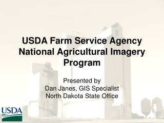 USDA Farm Service Agency  National Agricultural Imagery Program
