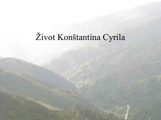 �ivot Kon�tant�na Cyrila
