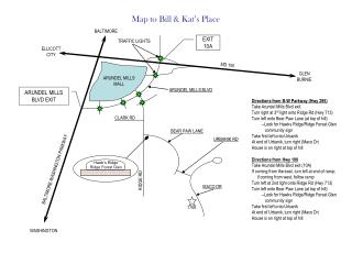Map to Bill & Kat�s Place