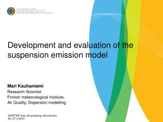Development and evaluation of the suspension emission model