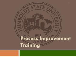 Process Improvement Training