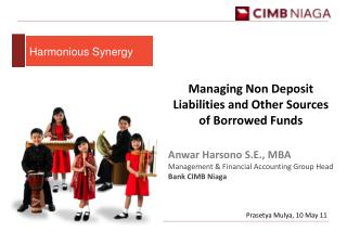 Managing Non Deposit Liabilities and Other Sources of Borrowed Funds Anwar Harsono S.E., MBA