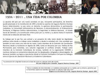 1934 – 2011 ..  UNA  VIDA  POR  COLOMBIA