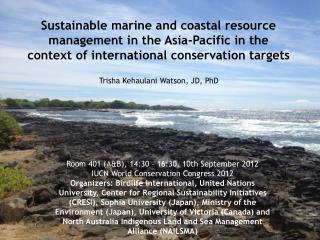 Trisha Kehaulani Watson, JD, PhD
