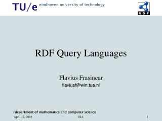 RDF Query Languages