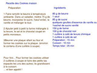 Ingrédients 85 g de beurre  1 oeuf  85 g de sucre