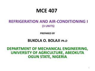 MCE 407