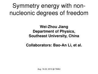 Symmetry energy with non-nucleonic degrees of freedom