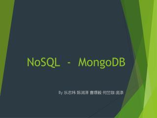 NoSQL  -  MongoDB