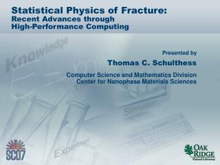 Statistical Physics of Fracture: Recent Advances through High-Performance Computing