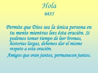 Hola 6435