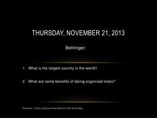 Thursday, November 21, 2013