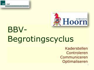 BBV- Begrotingscyclus