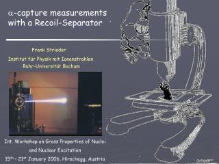 -capture  measurements  with a Recoil-Separator