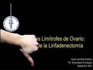 Tumores Lim�trofes de Ovario:  Papel de la  Linfadenectom�a