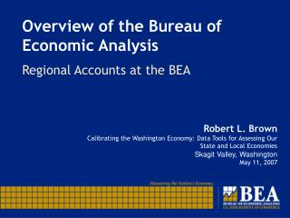 Overview of the Bureau of Economic Analysis