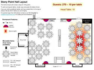 Guests: 270 – 10 per table