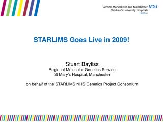 STARLIMS Goes Live in 2009!