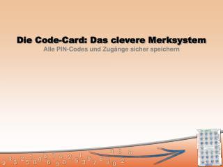 Die Code-Card: Das clevere Merksystem Alle PIN-Codes und Zug�nge sicher speichern