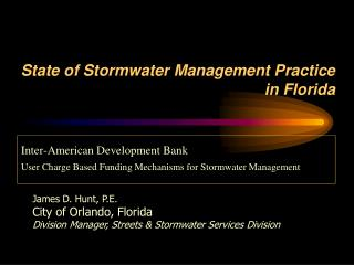 State of Stormwater Management Practice in Florida