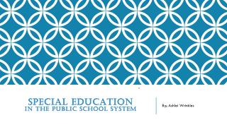 Special education in the public school system