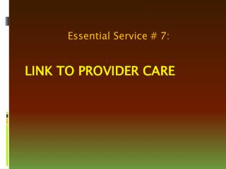 Link to Provider Care