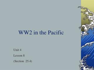 WW2 in the Pacific
