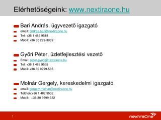 Elérhetőségeink:  nextiraone.hu