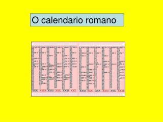 O calendario romano